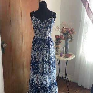 Betsy Johnson tie dye maxi dress